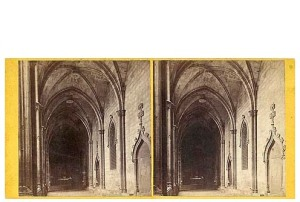 257. Frank Good. Barcelona. Claustro de la Catedral. Estereoscopia en albúmina. 1869