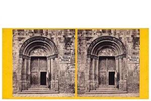 261. Frank Good. Barcelona. Puerta de Santa Eulalia. Estereoscopia en albúmina. 1869