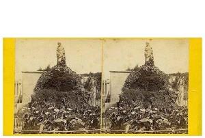 264. Frank Good. Barcelona, fuente en el jardín Botánico. Estereoscopia en albúmina. 1869