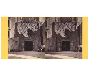 267. Frank Good. Valencia. Catedral, puerta de los Apóstoles. Estereoscopia en albúmina. 1869
