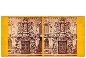270. Frank Good. Valencia, fachada de la casa del Marqués de Dos Aguas. Estereoscopia en albúmina. 1869
