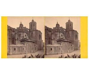 273. Frank Good. Tarragona, la Catedral. Estereoscopia en albúmina. 1869