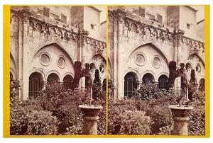 278. Frank Good. Tarragona, la Catedral. Arcos del Claustro. Estereoscopia en albúmina. 1869
