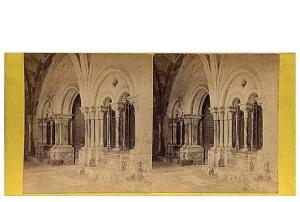 279. Frank Good. Tarragona, Catedral. Entrada a la Capilla. Estereoscopia en albúmina. 1869