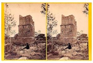 282. Frank Good. Tarragona, tumba de Escipión. Estereoscopia en albúmina. 1869