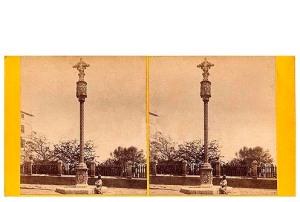 283. Frank Good. Tarragona, Cruz de San Antonio. Estereoscopia en albúmina. 1869
