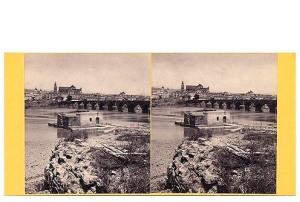 284. Frank Good. Córdoba panorama. Molino árabe en el Guadalquivir. Estereoscopia en albúmina. 1869