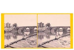 286. Frank Good. Córdoba, Puente y Puerta. Estereoscopia en albúmina. 1869