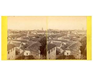 287. Frank Good. Córdoba. Vista del jardín desde la torre del Alcázar. Estereoscopia en albúmina. 1869