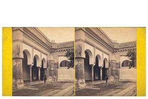 293. Frank Good. Córdoba. Mezquita, vista en el patio. Estereoscopia en albúmina. 1869