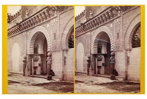 294b. Frank Good. Córdoba, Mezquita, puerta de las Plamas]. Estereoscopia en albúmina. 1869