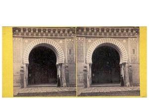 291a. Frank Good. Córdoba. Mezquita, Puerta de las Palmas. Estereoscopia en albúmina. 1869