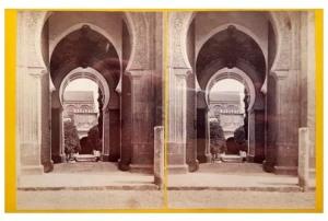 295. Frank Good. Córdoba, Mezquita, entrada al patio. Estereoscopia en albúmina. 1869