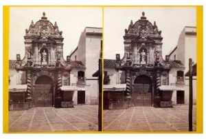 298. Frank Good. Córdoba, entrada de la Iglesia de San Pablo. Estereoscopia en albúmina. 1869