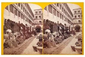 300. Frank Good. Córdoba [Plaza de la Corredera (vista lateral]. Estereoscopia en albúmina. 1869