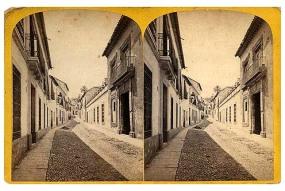 303. Frank Good. Córdoba. Vista de una calle. Estereoscopia en albúmina. 1869