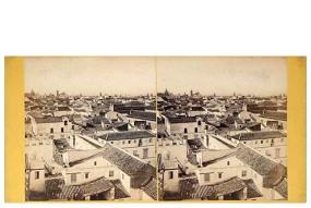 313. Frank Good. Sevilla. Panorama desde el Alcázar. Estereoscopia el albúmina. 1869