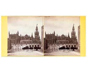 315. Frank Good. Sevilla. La Catedral. Estereoscopia en albúmina. 1869
