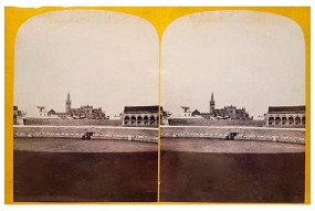 317. Frank Good. Sevilla. La Catedral desde la Plaza de Toros. Estereoscopia en albúmina. 1869