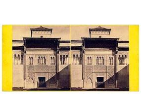 320. Frank Good. Sevilla. Entrada al Alcázar. Estereoscopia en albúmina. 1869