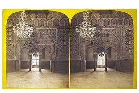 327. Frank Good. Sevilla. Donde el Rey fué asesinado. [Alcázar, Sala de Embajadores]. Estereoscopia en albúmina. 1869.