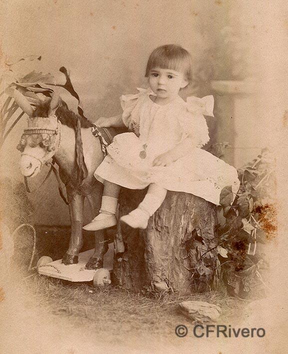 Camps y Cia. Retrato del niño Guillermo Rein Segura. Málaga 1895. Albúmina. (CFRivero)