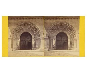 Frank M. Good. Valencia, puerta de la Catedral o Puerta del Palan. Estereoscopia en albúmina. Digital image courtesy of the Getty's Open Content Program.