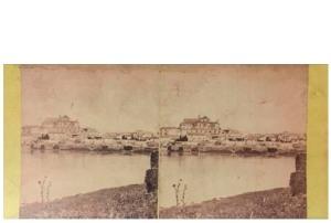 Frank M. Good. Córdoba, la Catedral desde el río. Estereoscopia en albúmina. 1869