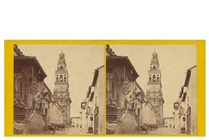 Frank M. Good. 288 Córdoba, Torre de la Mezquita. Estereoscopia en albúmina. Digital image courtesy of the Getty's Open Content Program.
