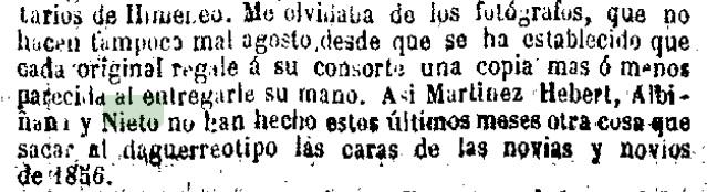 Fragmento de la página 2 del periódico de Madrid: La Época del 30/5/1856