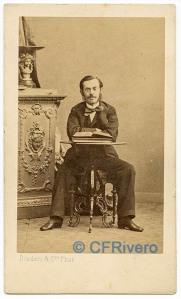 Disdéri (Paris). Domingo de Orueta Aguirre (1833-95). Ca. 1860. Carte de visite en albúmina. (CFRivero)