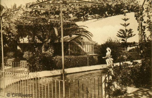 """Autor desconocido. Málaga.- """"El Retiro"""". Invernadero. Ca. 1920. Tarjeta postal."""