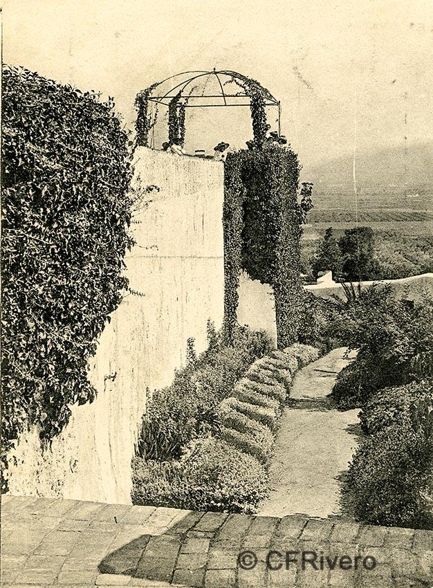 Lacoste ed. 20 Málaga.- El Retiro - El mirador. Ca. 1910. Tarjeta postal. (CFRivero)
