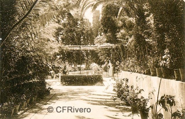 """Editor desconocido. Málaga.-""""El Retiro"""". Un detalle del jardín. Ca. 1920. Tarjeta postal. (CFRivero)"""
