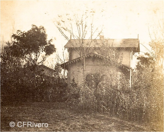 Autor desconocido. [Villa en Churriana (Málaga)]. Ca. 1865. Par de una estereoscopia en albúmina. CFRivero