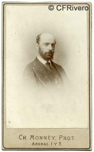 Charles Monney Millet. [Retrato de hombre con barba]. Madrid, ca. 1870. Carte de visite en albúmina. (CFRivero)