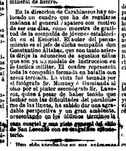 Nota sobre una obra de Carlos Monney en La Correspondencia de España el 23 de junio de 1868