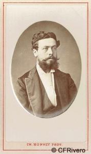Charles Monney Millet. Bilbao, retrato de Eugène Blot des Lyones. Ca. 1875. Carte de visite en albúmina (CFRivero)