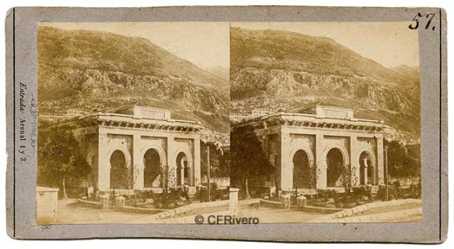 Charles Monney Millet. Gibraltar, Catedral anglicana Santísima Trinidad. Ca. 1865. Estereoscopia en albúmina sobre papel (CFRivero)