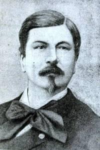Retrato de Ernest Bazin. Grabado. Ca. 1870
