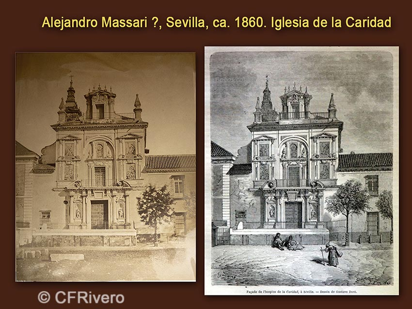 Alejandro Massari?. Sevilla, Hospital de la Caridad. 1860. Albúmina / Gustave Doré. id. Grabado
