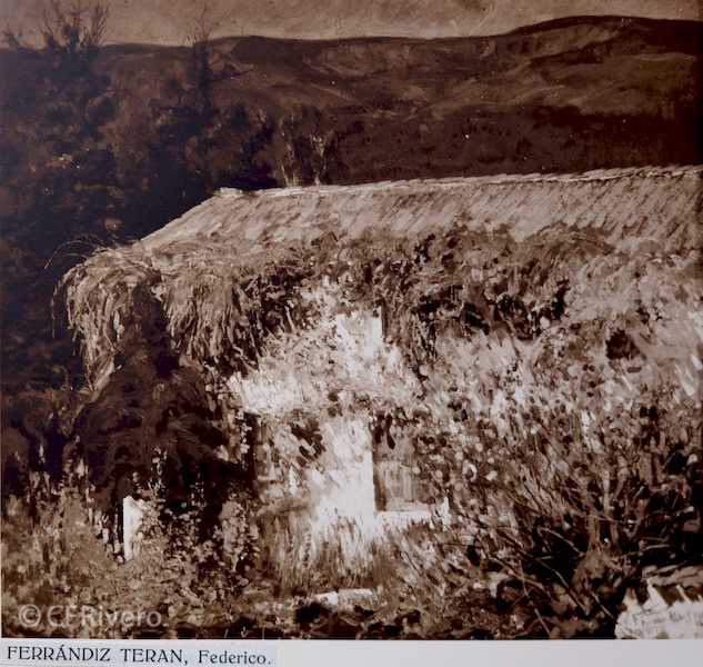 Rafael Murillo Carreras. [Paisaje], óleo de Bernardo Ferrándiz y Badenes. Málaga 1931. Papel al carbón. (CFRivero)