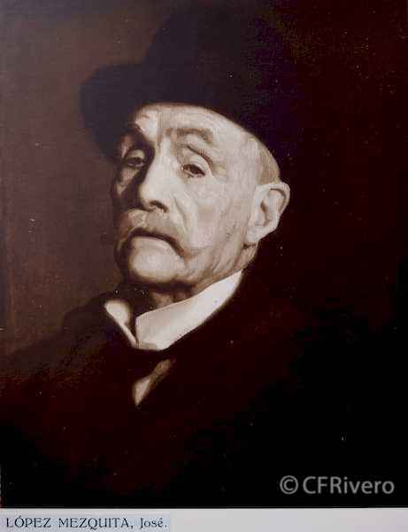 Rafael Murillo Carreras. Mi Tío Baldomero, óleo de José María López Mezquita. Málaga 1931. Papel al carbón. (CFRivero)