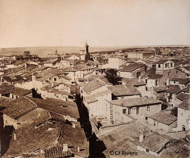 Pégot-Ogier, Eugène. Salamanca. Vista del Paseo de los Jesuítas. Albúmina. 1877. (CFRivero)