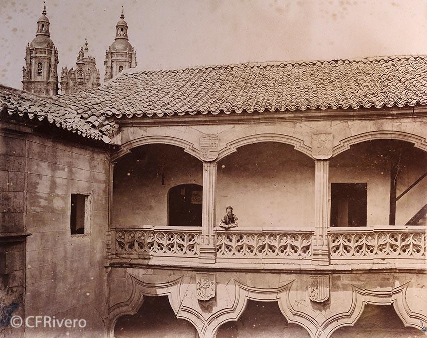 Pégot-Ogier, Eugène. Salamanca. [Palacio de la Salina]. Albúmina. 1877. (CFRivero)